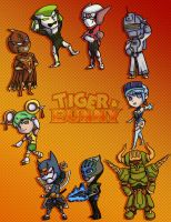Tiger and Bunny Chibis ~Hero Version~ by Card-Queen