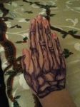 Sharpie Tattoos - Skeleton Hand by Skrin-the-protector