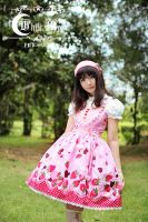 White moon pink alice sweetheart Lolita Dress by miccostumes