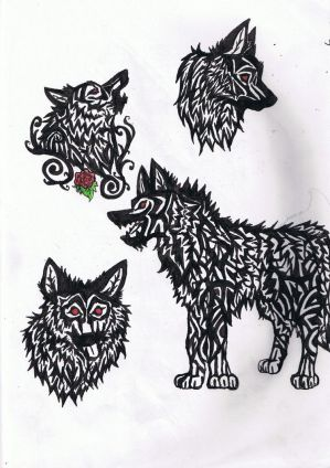 Wolf Tribal Tattoo by ~Canyx on deviantART