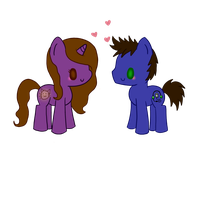 LAUren and Mankey Chibi by SarahThePegasister