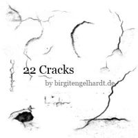Crack brushes by birgitengelhardt
