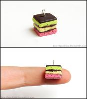 Italian Rainbow Cookie Charm by Bon-AppetEats