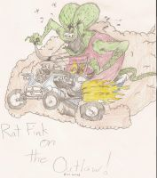 Rat Fink on Outlaw by savanna13