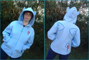 Rainbow Dash Cosplay Hoodie Jacket by Monostache