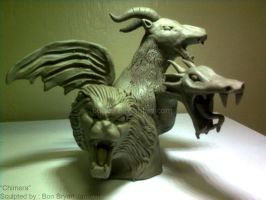 Chimera Clay Sculpture by Bon09