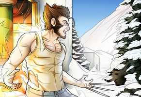 Wolverine, Weapon X by alessandelpho