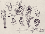 Sketchdump Sepia by AngieMyst
