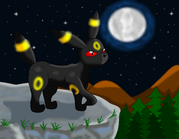 197.Umbreon by SkyBlueArts