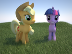 mlp series: applejack and twilight by krz9000
