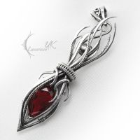 ZUNGHTAR - Silver, Red Quartz. by LUNARIEEN
