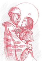 Christopher Carrion and Moonie(Candy) by Eva-Batora