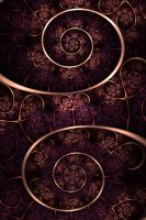 Dirty-stained spirals by FractalDesire