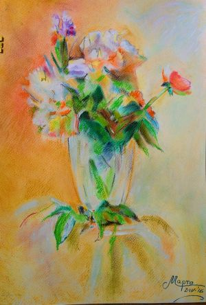 Vase with flowers by Martynes9N