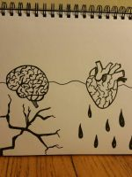 Brain storm and Bleeding heart by whitemochafrappe