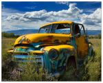 Yellow and Rust Truck by butterfly36rs