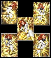 WHITE PHOENIX PERSONAL SKETCH CARDS by AHochrein2010