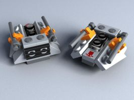 Lego Mini Snowspeeder by darthsjaak