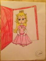 Request: Peach Runs Out the Door by Camilia-Chan