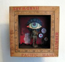 Assemblage: Eye Soldier by bugatha1