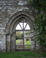 church ruins-doorway2 -stock by 6lell9-stock