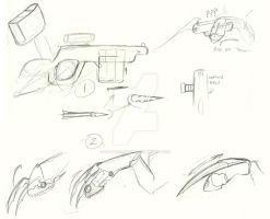 MLP weapons- rough concept 1 by Earthsong9405