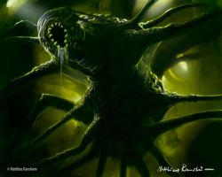 Alien Xenomorph spider by Furgur