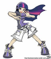 Neku Twilight Sparkle by MintBronyCrunch