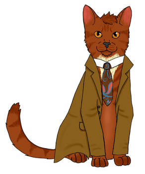 Tenth Doctor Cat by willowleaf11