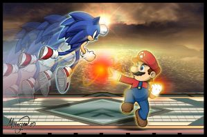 Sonic VS Mario: Choose a side by LightningGuy