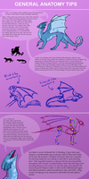 Dragon Tutorial Basic Anatomy by Morgan-Michele