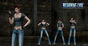 Claire Redfield CV dsc No vest mesh mod -V1 by ChrisTalyus