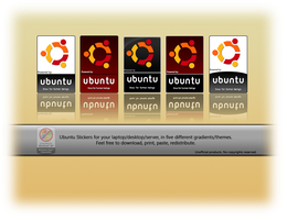 Ubuntu Stickers by deviantdark