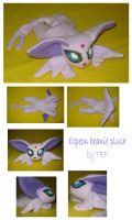 Espeon beanie plush by teenagerobotfan777