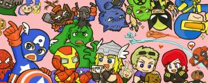 Marvel heroes by kaiko6