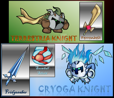 Meet the Terrestria Knight and Cryoga Knight by ReyJJJ