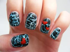 Crackle Manicure by Ashesela