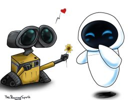 WALL-E x EVE by TheBurningSpirit