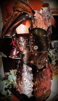 Steampunk Samurai, Ronin of the Industrial Empire by BadLukArt