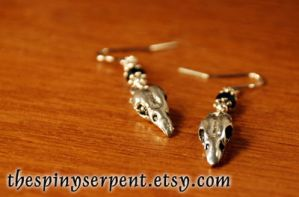 Bellatrix Lestrange Earrings by kittykat01