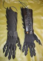 Dragon Gloves and Bracers by scargeear