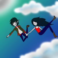 marceline and marshall lee by shiv0611