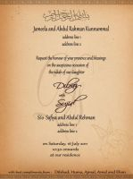 wedding invitation by thedrummerboii