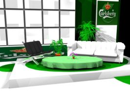 Carlsberg TV-Set detail view by vicariousmonster