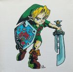 Link from Ocarina of time/majoras mask by rawrnessxx