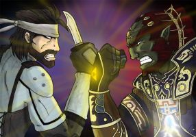 Snake vs. Ganon second pass by BenSmith128