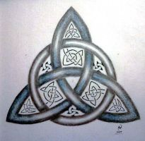 Blue Triquetra by IrishArtiste