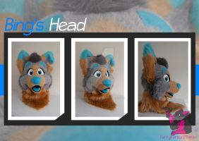 Bing the Wolf - Head turn around by FurryFursuitMaker
