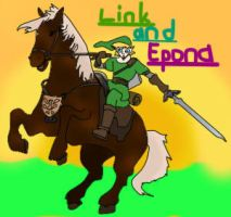 Link and Epona by DimensionStar
