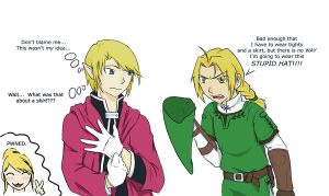 Link and Edward are Twins by FlameoZutara
